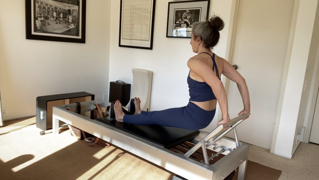 Long Back Stretch on the Reformer
